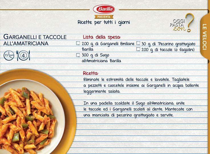A primavera è tempo di taccole. Provatele con i garganelli Barilla Emiliane in un gustoso sugo all'Amatriciana #Oggipastacon