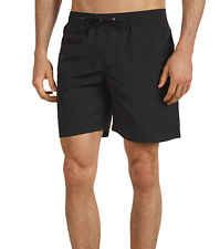 New Lacoste Croc Logo Hidden Lacoste Black Drawstring Swim Trunks Board Shorts[L 6]