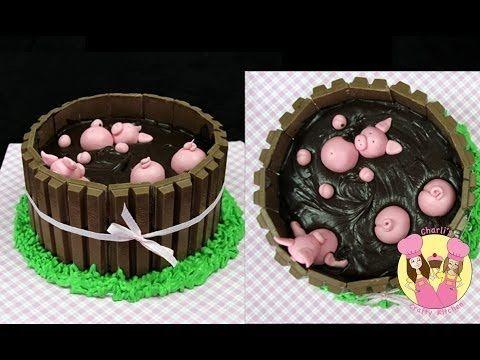 Kit Kat Birthday Cake Recipe - Pigs in Mud (kid video) http://www.finecraftguild.com/kit-kat-birthday-cake-pigs-in-mud-recipe/
