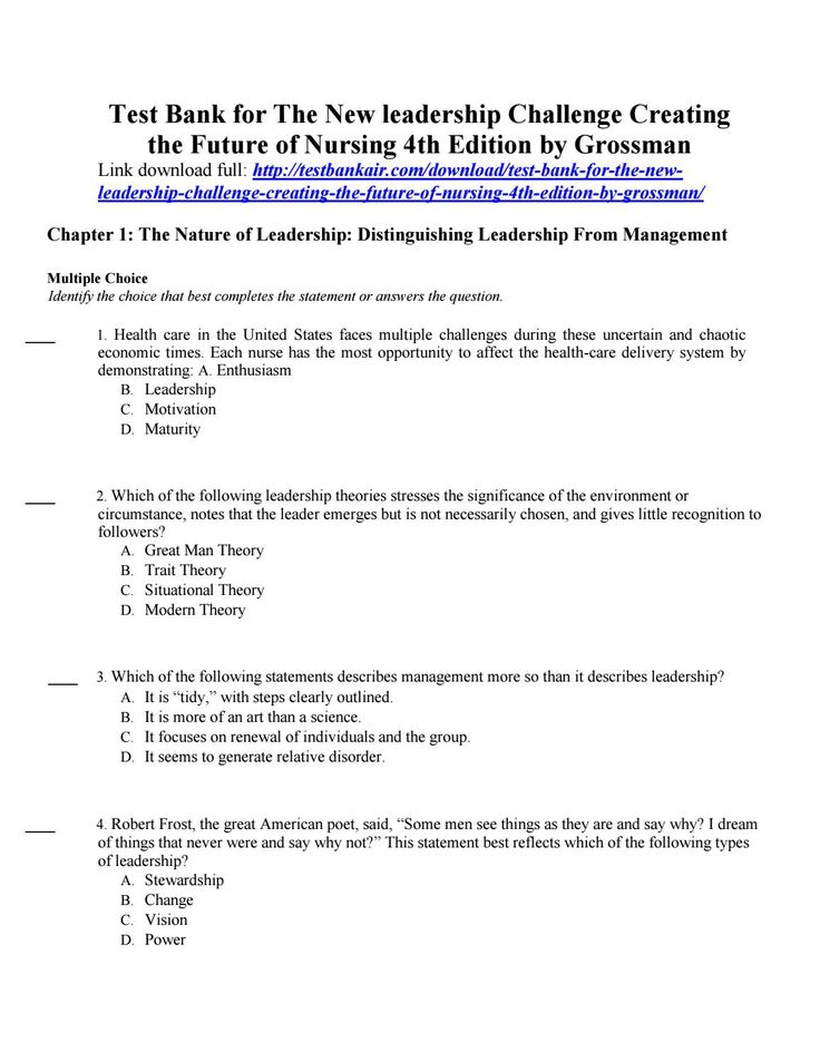 15 best test bank air images on pinterest banks bestseller books download test bank for the new leadership challenge creating the future of nursing 4th edition by fandeluxe Gallery