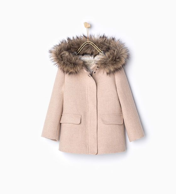 Duffle coat with furry hood-View all-Coats-Girl | 4-14 years-KIDS | ZARA Belgium
