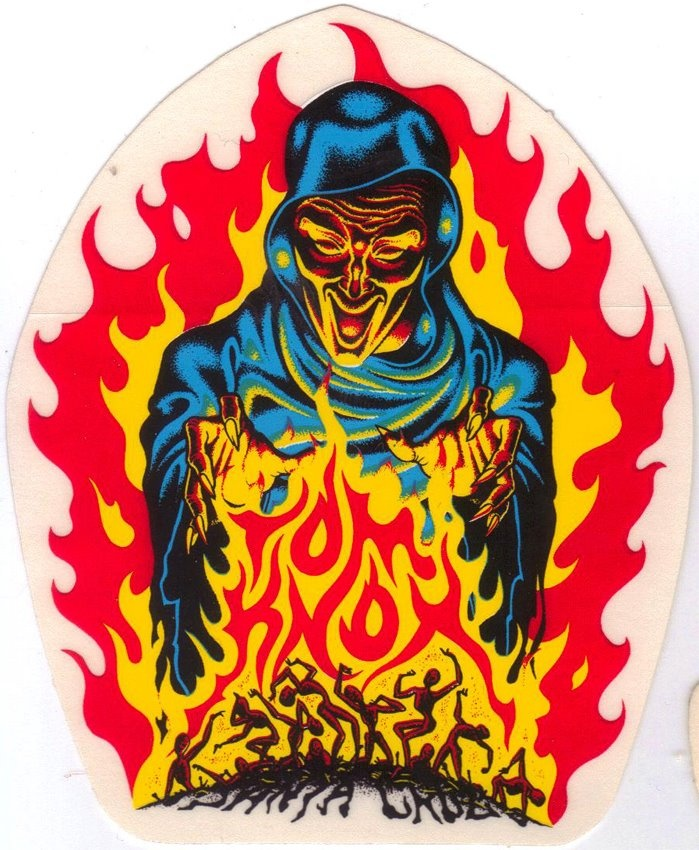 Santa cruz tom knox firepit sticker