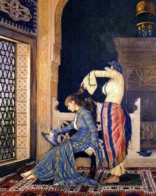 Osman Hamdi Bey, Saç Taratan Kız