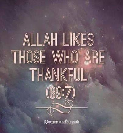 Be thankful Follow @muslim_quotes at Twitter