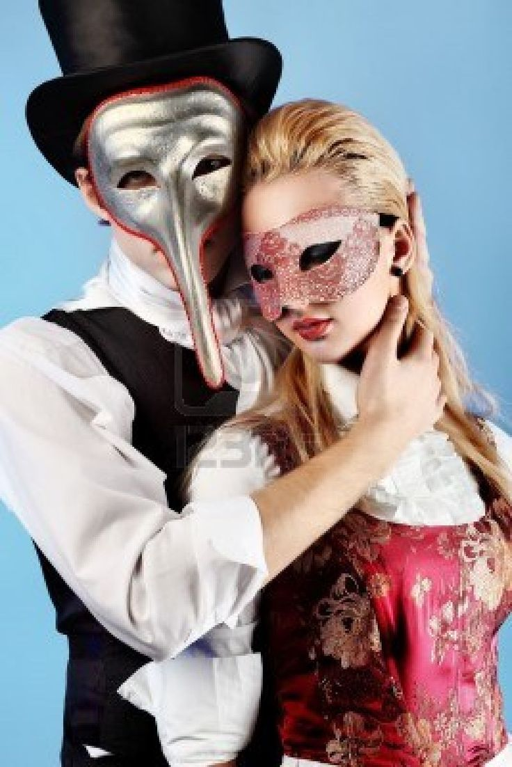 image detail for portrait of the elegant young couple in masquerade costumes - Masquerade Costumes Halloween