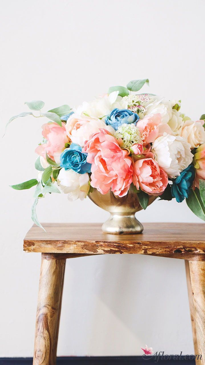 Create Spring Silk Flower Centerpieces With Faux Flowers From