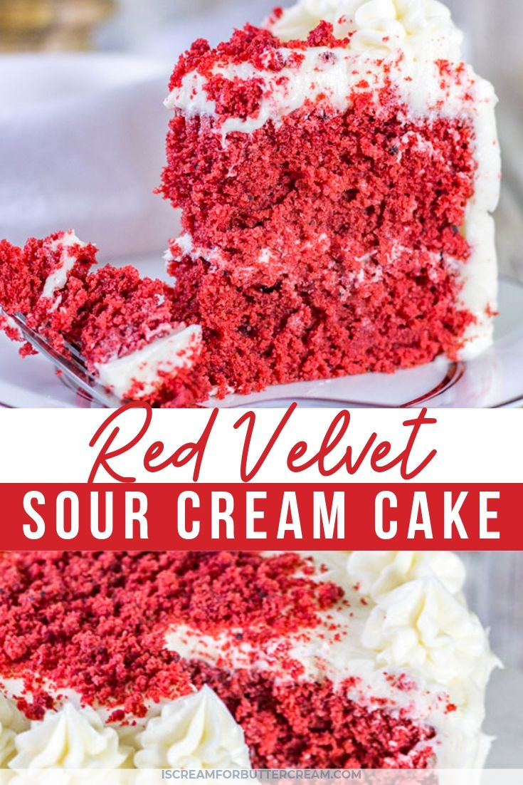 Sour Cream Red Velvet Cake Recipe Velvet Cake Red Velvet Cake Sour Cream Cake