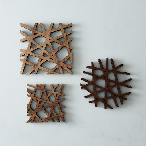 Mid-Century Modern Trivet on Provisions by Food52 - I would hang these on the wall - so pretty