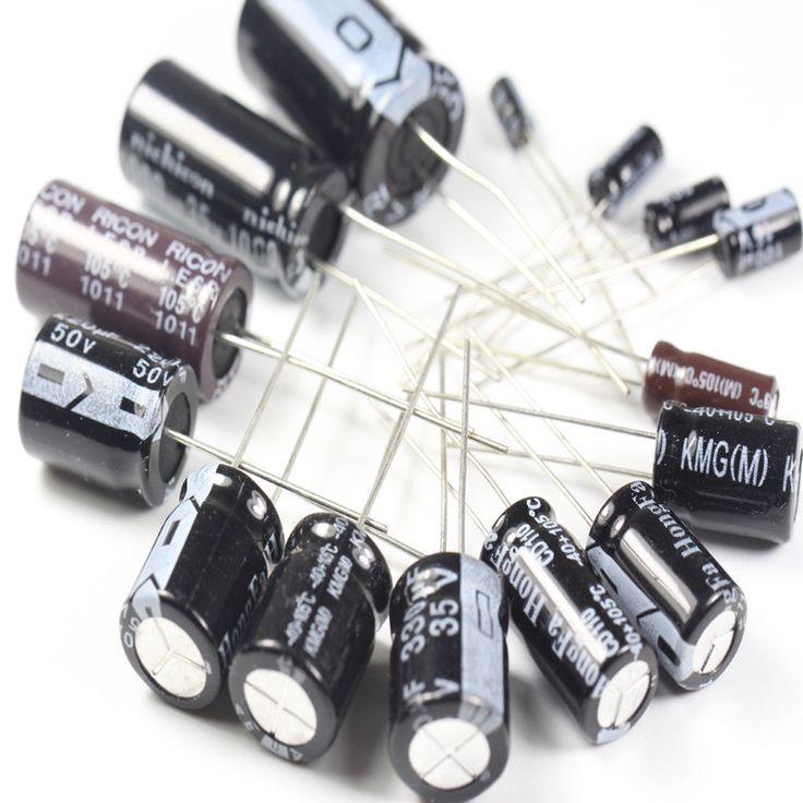 Electrolytic Capacitor Assortmen,0.22uF-470uF, 120pcs