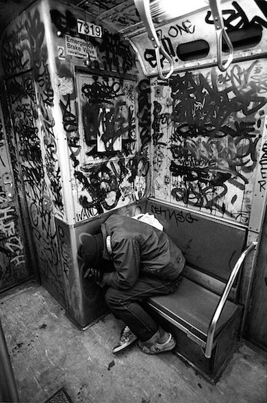 NYC subway in the bad old 1970's - and my sister and brother and I rode it everyday from the Bronx to school on the upper west side.