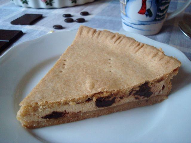 Curd and Chocolate Pie | Křehký tvarohový koláč s čokoládou - www.vune-vanilky.cz