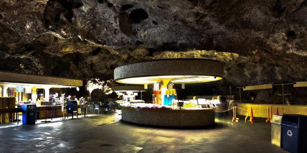 Chow down underground: this subterranean cafeteria is 50's future-kitsch