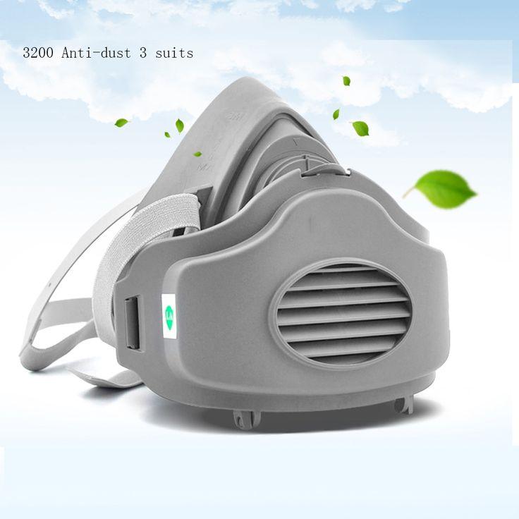 3200 anti-debu Masker Respirator Masker Gas Ringan Gratis Pertandingan Setengah Wajah Masker Lateks Masker Tubuh Cat Pelindung Debu semprot