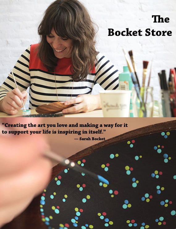 """Getting to the Heart of Handmade Business  -  """"How calming it is. I crave creativity when I go long periods without painting. It's so satisfying to spend hours on something and see it come together dot by dot."""""""