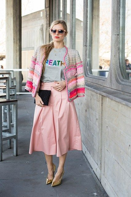 海外アラフォーは大胆なピンクをチョイス!アラフォー(40代)女性におすすめのスカーチョの着こなし♪