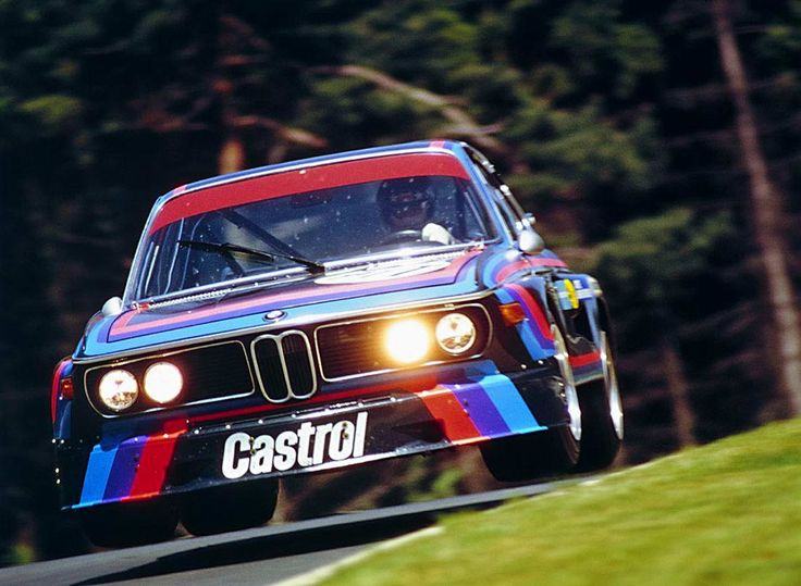 The flying BMW CSL of Hans Joachim Stuck at Nurburgring in 1973.