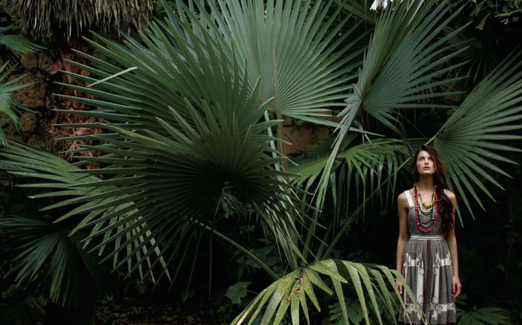 High fashion shoot in the jungle #anthropologie