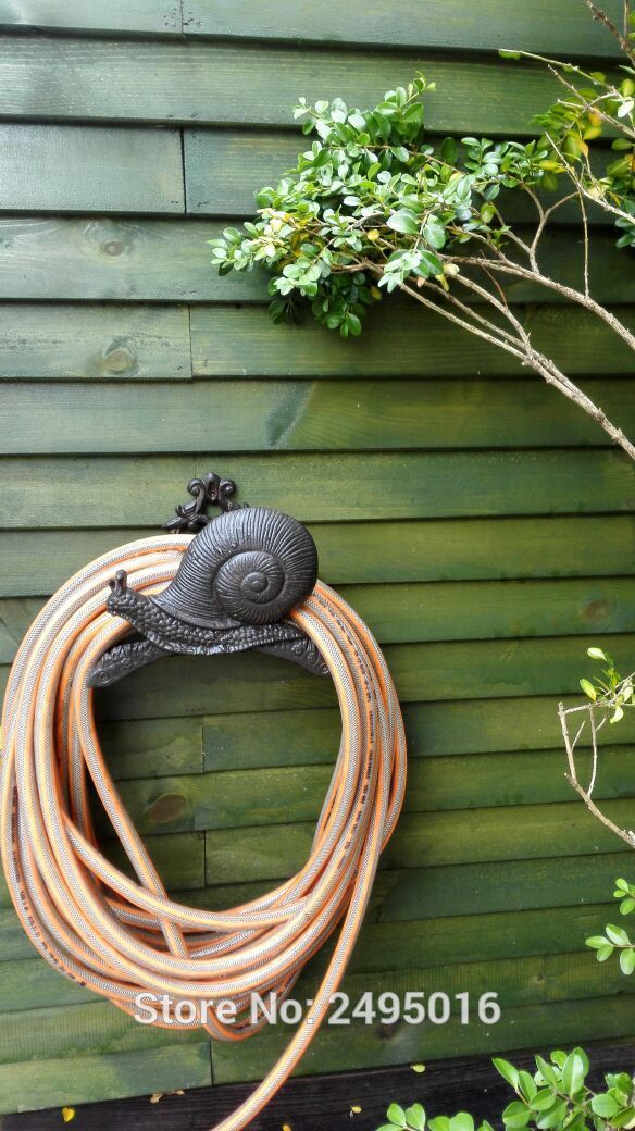 On Tree Hose Pipe Reel Rope Holder Garden Hose Hanger Yard Patio Lawn Wall  Mounted Hose