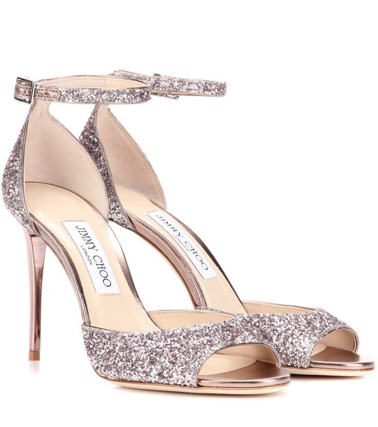 JIMMY CHOO Annie 100 glitter sandals