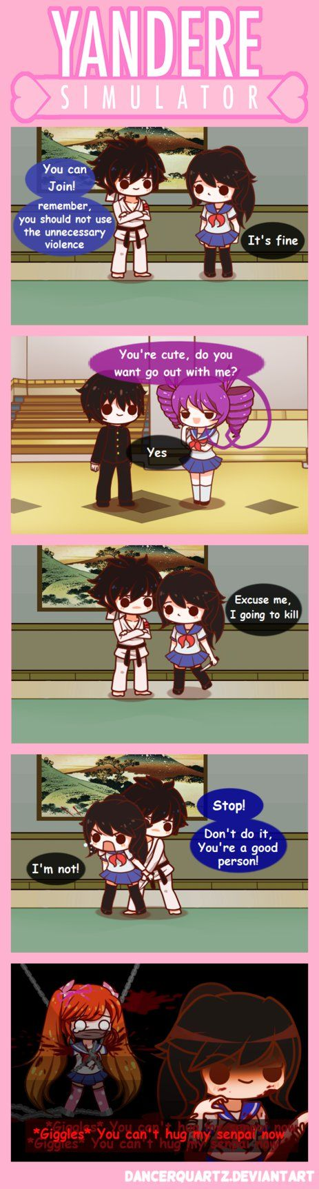 Yandere Comic - I'm not a good person! by DancerQuartz on DeviantArt