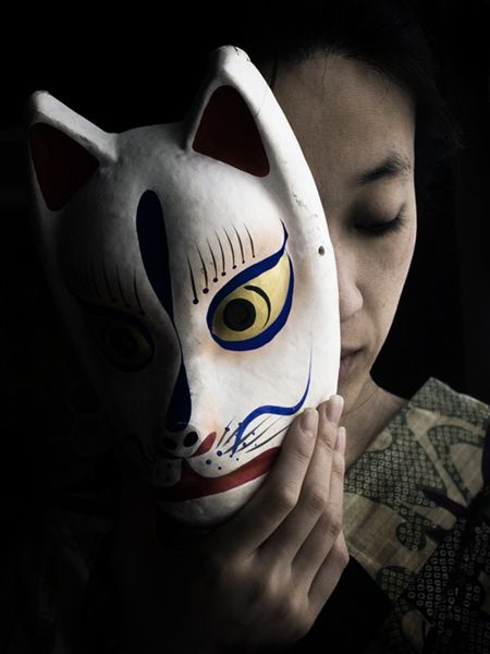 Japanese traditional fox mask