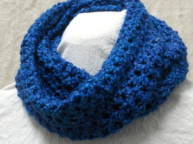 Crochet+Cowl+Neck+Warmer+Infinity+Scarf+Blue+by+ScarfShack+on+Etsy,+$22.00
