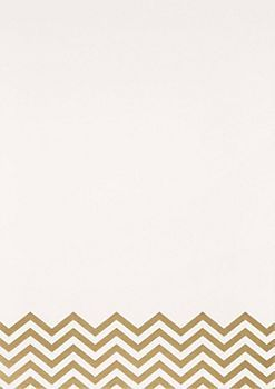Template for Menu & Favors - Gold Chevron Foil A7 Printable Wedding Invitations