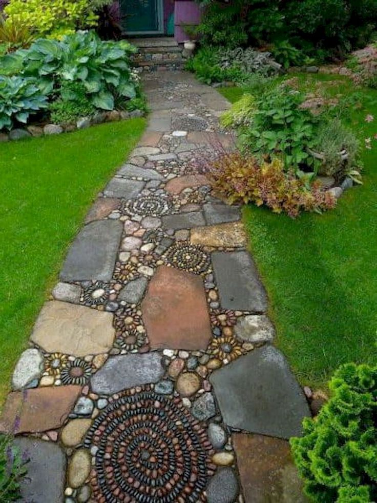 60 Awesome Stepping Stone Pathway Landscaping Ideas in