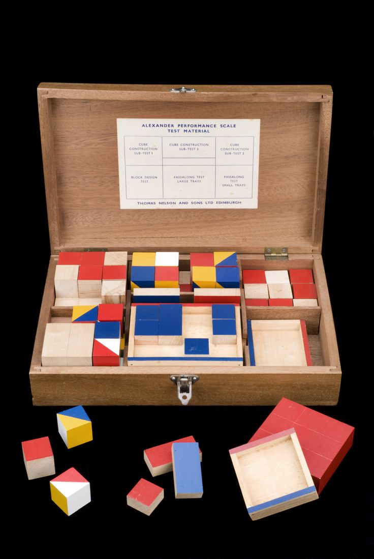 Alexander Performance Scale Test kit, Edinburgh, Scotland, 1946-1950