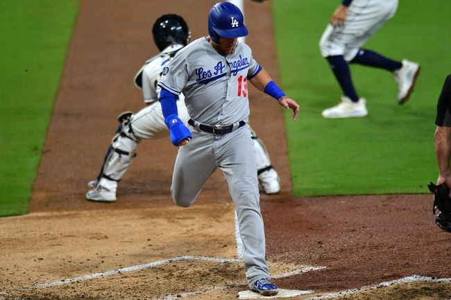 Great To See The Player Remembering To Step On The Plate When They Score Pickparlays Dodgers Mlb Baseball Dodgers Mlb San Diego Padres