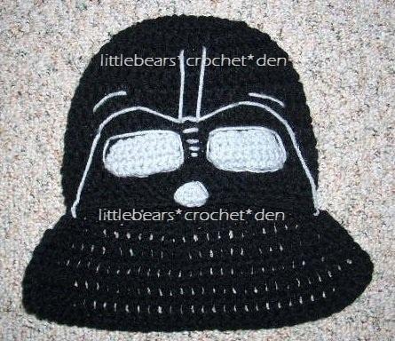 Knitting Pattern Darth Vader Hat : CUSTOM Crocheted STAR WARS DARTH VADER Hat Costume Darth vader, Crochet hat...