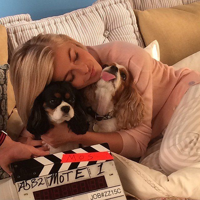 This Week's Cutest Celebrity Candids: Julianne Hough cuddled up with her pups Lexi and Harley.