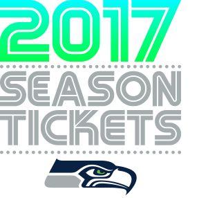 2017 Season Tickets. Seahawks Logo.