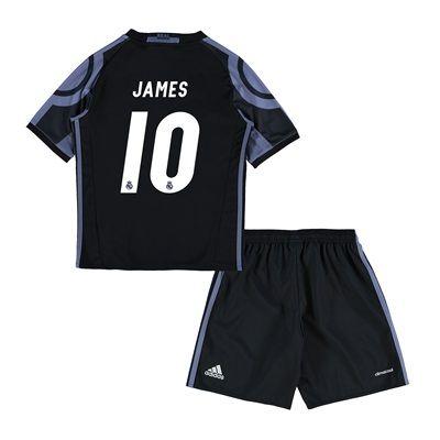 Real Madrid Third Mini Kit 2016-17 with James 10 printing: with James 10 printing #RealMadridShop #RealMadridStore