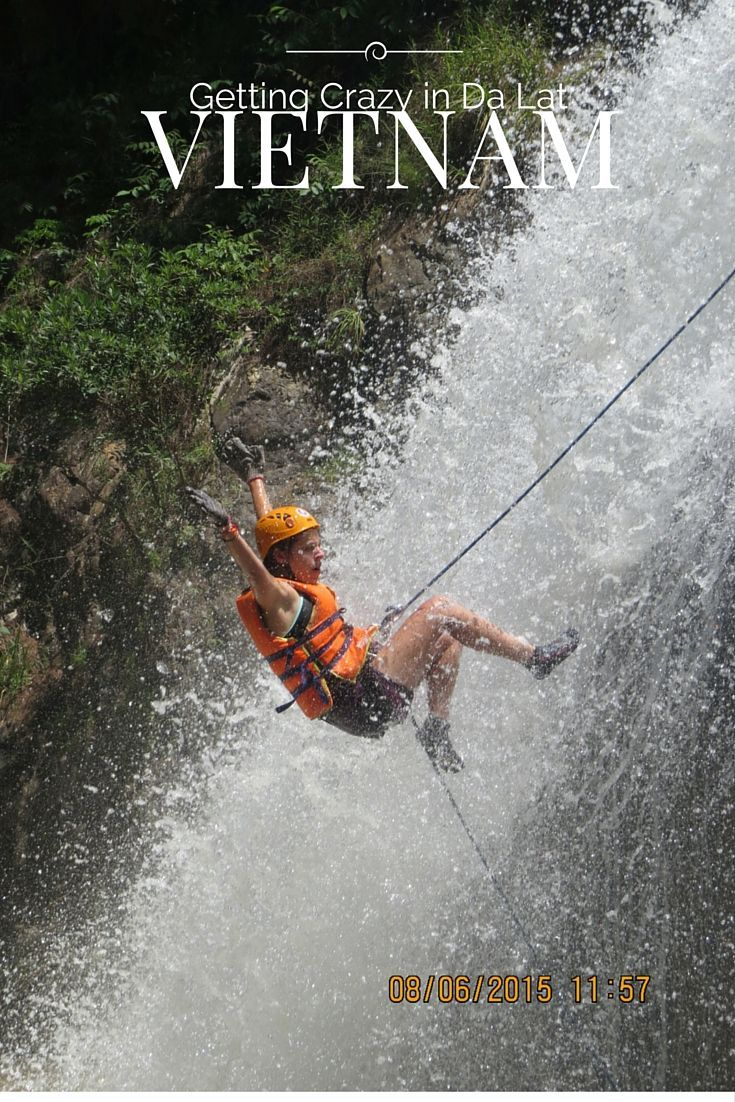 "Canyoning in Da Lat, Vietnam really lives up to its motto, ""Don't Be Lazy Just Get Crazy!"""