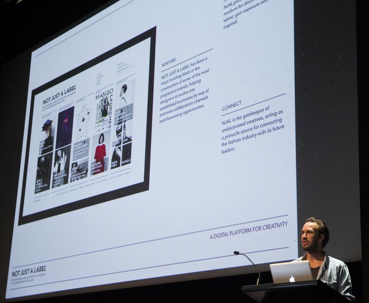 Stefan Seigal from UK based Not Just A Label  lectures at the 2013 WOW Designers Symposium