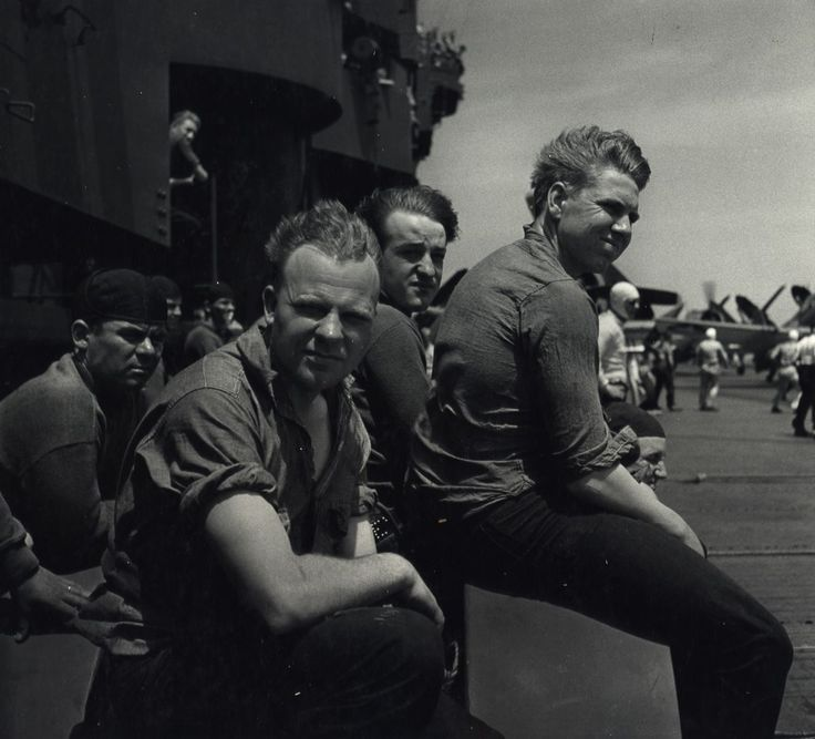 Newly discovered WWII photos reveal a striking record of life on a Navy ship
