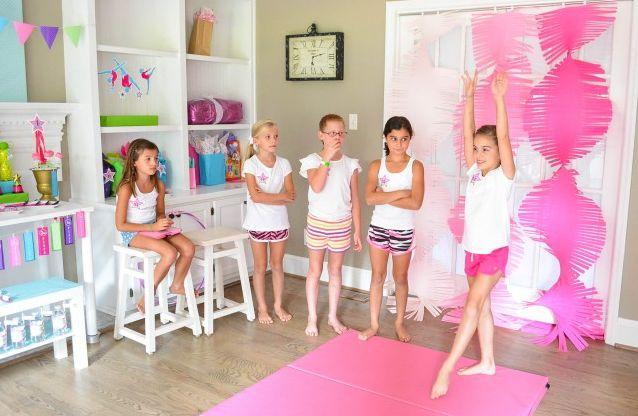 The perfect gymnastics birthday party!