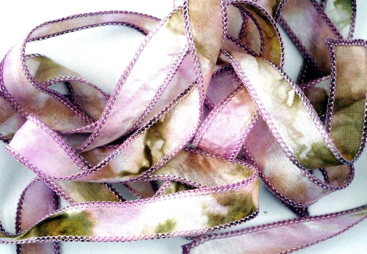 Wrap Bracelets – Hand dyed silk ribbon habotai,wrap bracelet #220.8 – a unique product by SilkyDreams on DaWanda