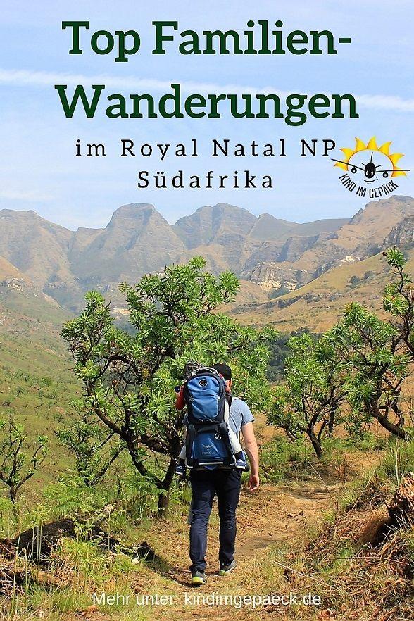 Südafrika mit Kind: Wandern im Royal Natal Nationalpark in den Drakensbergen. Tolle Wanderungen für jeden Schwierigkeitsgrad: Otto´s Walk, Devils Hoek Valley und Tiger Falls im Detail.