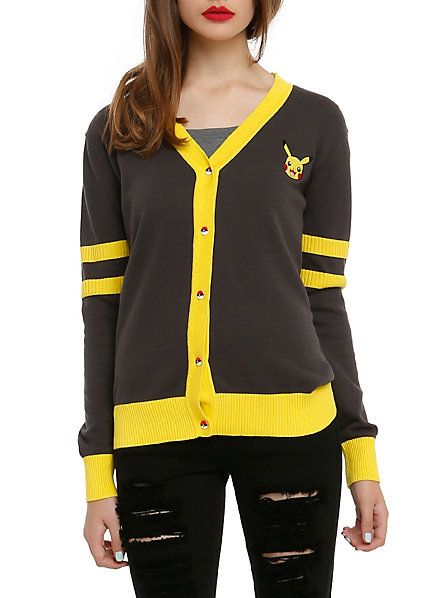 This Pokemon Pikachu Women's Cardigan Is The Cutest Read more at http://fashionablygeek.com/jackets/pokemon-pikachu-cardigan/#8dhO4x0BCzS9p9gW.99