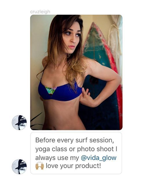 Another Happy Vida Glower @cruzleigh Enjoy more youthful looking skin, luscious hair, strong nails and a boost in energy with Vida Glow marine collagen