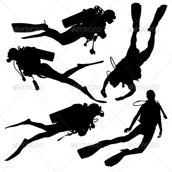 Diving Silhouette - Sports/Activity Conceptual