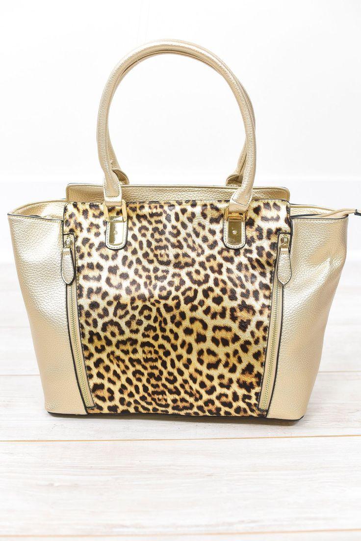 Wherever I May Roam Brown Leopard Bag - BAG1031BR