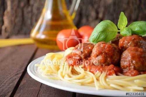Italian style Meatballs & spaghetti