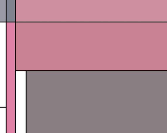 Pink And Gray Mondrian Abstract Wall Art.