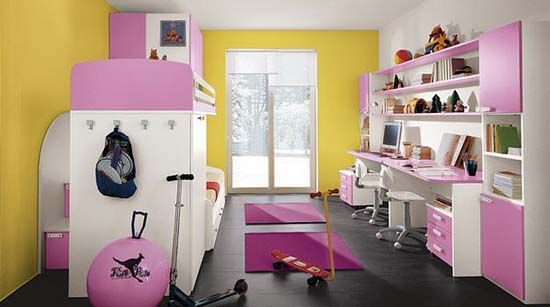 Awesome 20 Very Happy And Bright Children Room Design Ideas : Awesome 20  Very Happy And Bright Children Room Design Ideas With Yellow White Wall  Black ...