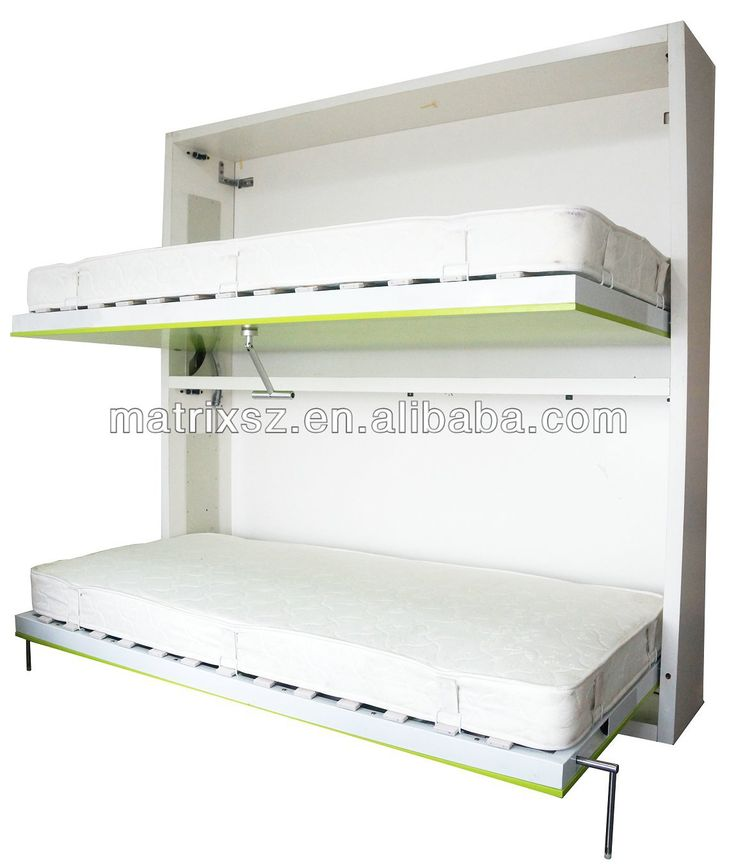 bunk horizontal double wall folding bed wall bed china ...