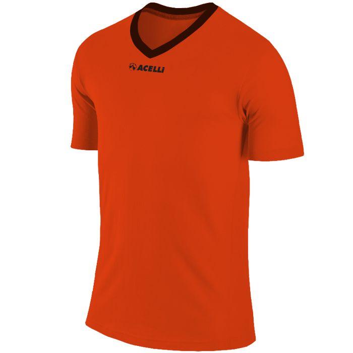 electric orange soccer top