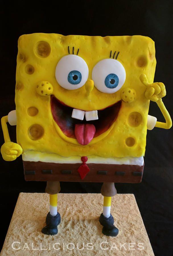 Standing Sponge Bob  by Callicious Cakes
